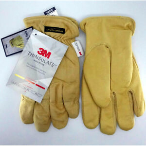 Handmax 3m Thinsulate Brown Leather Work Winter Climbing Welding Gloves Large Xl
