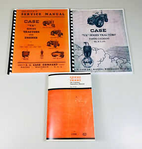 Case Va Series Tractors Vac Vah Vai Vao Vas Vae Service Parts Operators Manual