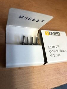 Sirona Cerec Inlab Cylinder Diamond Four Total Burs Dental Milling 2 0mm