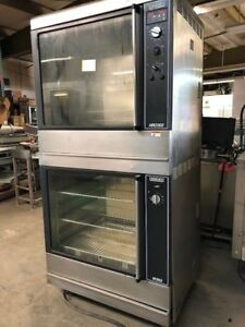 Hobart Hrw303 Electric Double Stack Chicken Food Warmer Rotisserie Oven Cooker