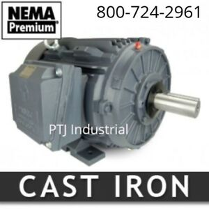 Techtop 15 Hp Electric Motor 254t 1800 Rpm 3 Phase Severe Duty 208 230 460