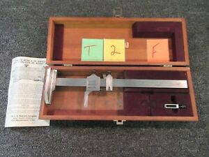 Starrett 454 Height Gage Caliper Vernier Measure 001 Tool Machine Precision 12