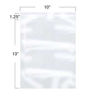 10x13inch Clear Resealable Self Adhesive Cello Lip And Tape Poly Plastic Bags