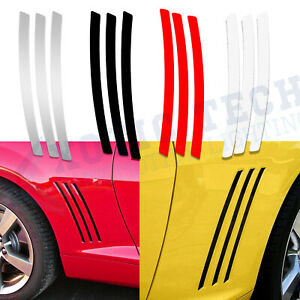 For Chevy Camaro L R Side Vent Insert Stripes Decal Inlay Stickers 2011 2015