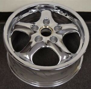 95 96 97 98 Porsche 911 Oem Wheel Rim Chrome 67221 99336212400 17x7 Et55