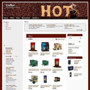 Established Coffee Gourmet Online Business Website For Sale Free Domain Name