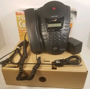 Polycom Clarity Soundpoint Pro Se 220 Dual 2 line Business Phone In Box