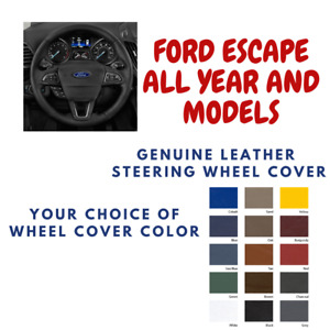 Ford Escape Wheelskins Leather Steering Wheel Cover Custom Fit Many Color