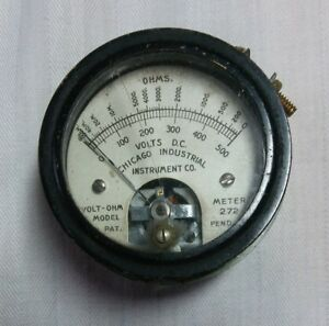 Vintage Chicago Industrial Instrument Co D c Volt Ohm Meter Gauge Model 272