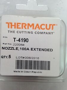 Thermacut 220064 Nozzles For Powermax1650 unshielded 100a 5 Pack