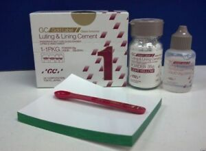 Dental Gc Fuji 1 Luting Lining Cement 35 Gm Pl Gold Label Pack 2021 Expiry