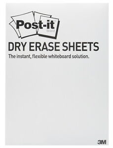 Post it Dry Erase Surface Sheets White 11 X 15 3 8 Inches Pack Of 15