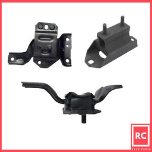 Motor Trans Mount 3pcs Set For 1996 1998 Ford Mustang 4 6l A3002 A3001 A2784