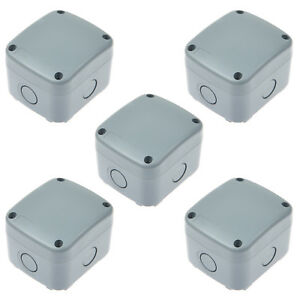 5 Pack Weatherproof Plastic Junction Box Electrical Enclosure Project Case Ip66