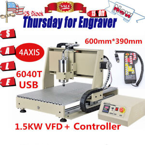 5 Off 4 Axis 3d Diy Drill Mill Machine 1 5w Cnc 6040 Router Engraver Spindle