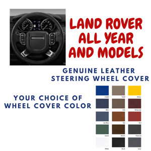 Land Rover All Models Wheelskins Leather Steering Wheel Cover Custom Fit Color