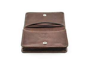 Tony Perotti Front Pocket Leather Business And Credit Card Case Wallet In Brown