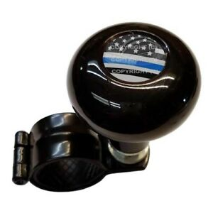 Black Steering Wheel Suicide Spinner Handle Knob Truck Car Ghost Usa Ble Line
