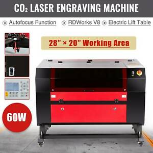 60w Co2 20 X 28 Laser Engraver Cutter Autofocus Electric Lift Table Ruida Dsp