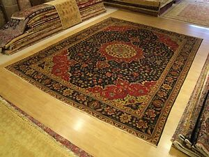 10 X 13 Handmade Fine Quality Antique Persian Rug Soft Silky Fine Wool
