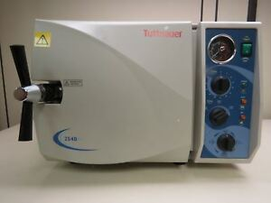 Tuttnauer 2540m Manual Autoclave Steam Sterilizer 10 Dia X 18 Deep W Trays