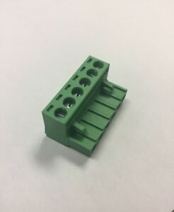 100pcs Dinkle 5esdv 06p Pcb Connector Plug Pitch 5 00mm 300v 15a