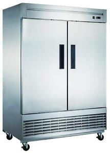 D55f 40 7 Cu Ft 2 door Commercial Freezer In Stainless Steel