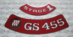 1970 1974 Buick Gs 455 Stage 1 Air Cleaner Decal Kit Gs Gsx Riviera