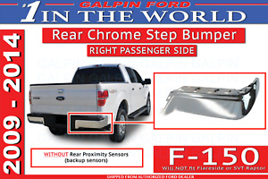 09 Thru 14 Ford F 150 Oem Genuine Ford Rear Chrome Step Bumper Wo Prox Rh Pass