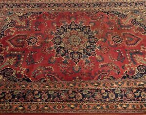6 4 X 9 8 Vintage Hand Knotted Handmade Antique Circa1930s Persian Wool Rug