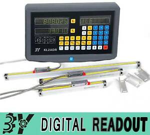 2 Axis Digital Readout Dro And 2 Pcs Linear Scale Encoder W Accessories