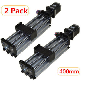 2pcs Ball Screw Linear Cnc Slide Stroke 400mm Liner Actuator Stepper Motor Us