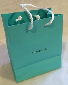 Tiffany Co Small Blue Paper Shopping Gift Bag