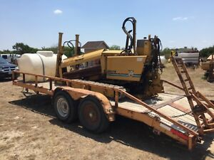 Vermeer 7x11 Drill Package Complete With Heavy Equipment Trailer Mud Mixer Tank