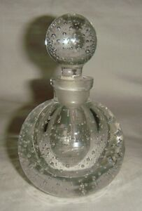 Vintage Czech Bubble Perfume Bottle With Dauber