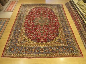 10 X 14 Hand Knotted Fine Quality Antique 1930s Persian Rug Soft Wool
