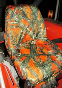 Durafit Seat Covers Waterproof Kubota Seat Covers For Tractors Orange Camo
