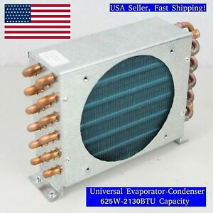 Air Cooled Evaporator Condenser 625w 120x120mm 4 Row 1 4 Tube Copper aluminium