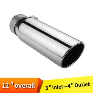 Exhaust Turbine Muffler Resonator Stainless Steel 2 5 Id 3 5 od