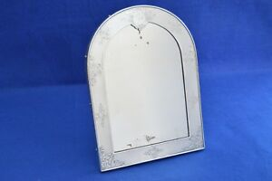 Antique French Solid Silver Dressing Table Mirror 19th Century Minerve