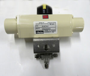 Parker Pneumatic Actuated Three Way Stainless Ball Valve 1 8 Tube