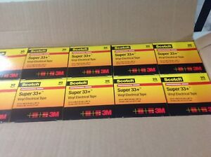 Scotch Super 33 Vinyl Electrical Tape 3 4 X 66 Ft 100 Rolls