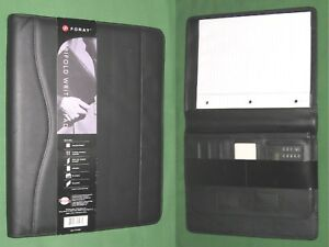 8 5x11 Note Pad Black Leather Foray Planner Binder Franklin Covey Monarch 9382
