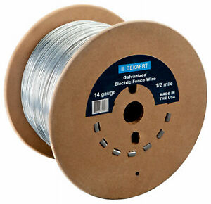 Bekaert 118220 14 gauge Electric Fence Wire 1320 ft