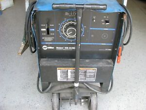 Miller Welder Dialarc 250 Amp Ac dc Arc Welder Input Power 1 phase