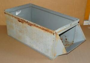 Vtg Metal Industrial Storage Bin Container Zinc Storage Bin Organizer Drawer