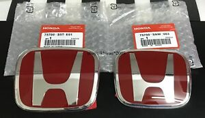 Honda Civic Fc 10 Gen Civic Si Red H Logo H Set Rear Front Emblem Type R Jaf