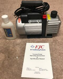Brand New Electric Rotary Vane Vacuum Pump Single Stage 2 5cfm 15032804