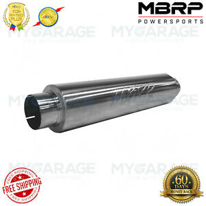 Mbrp M91031 T409 Stainless Steel Muffler 4 Inlet Outlet 24 Body 30 Overall
