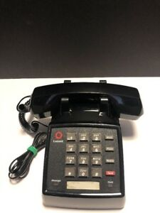 Lucent Black Push Button Phone Business Phone Vintage Retro B4
